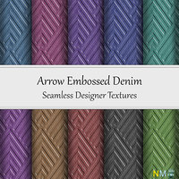 Arrow Embossed Denim Fabrics 10 Seamless Textures