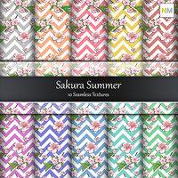 Sakura Summer 10 Seamless Textures