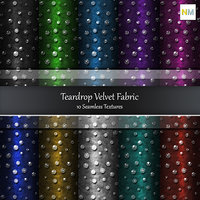 Teardrop Velvet 10 Seamless Fabric Textures