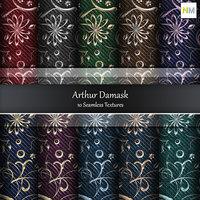 Arthur Damask Fabrics 10 Seamless Textures