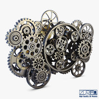 gear mechanism v 2 3D model