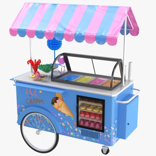 candy cart 3D