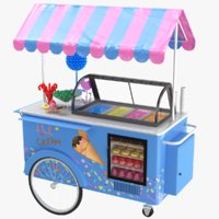 Ice Cream And Candy Cart