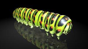 3D larva butterfly