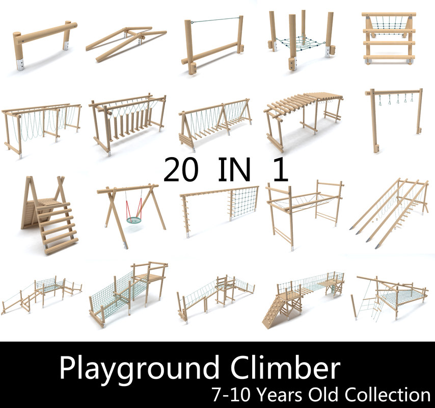 3D playgrounds 7-10 play