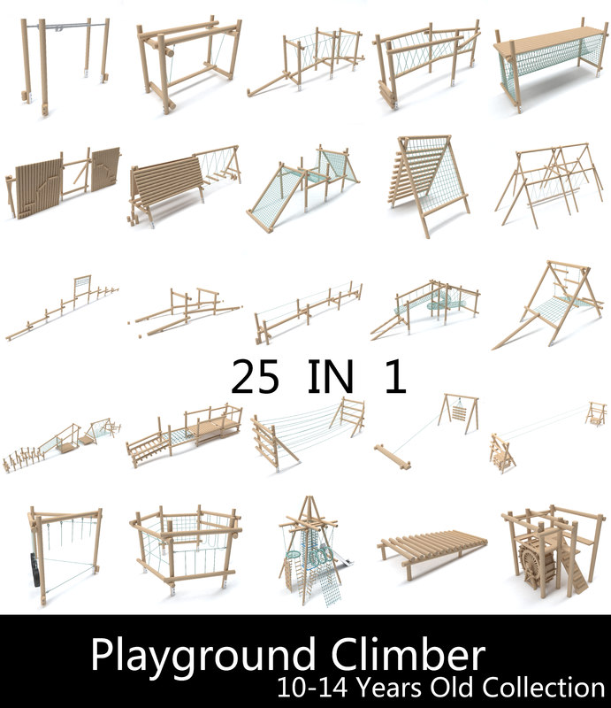3D playgrounds 10-14 play model