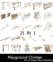 Wooden Playground Barrier Collection 10-14