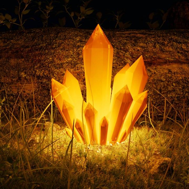 3D glowing crystal model