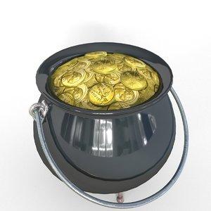 3D treasures pot