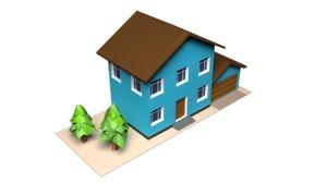 3D model urban 1 house