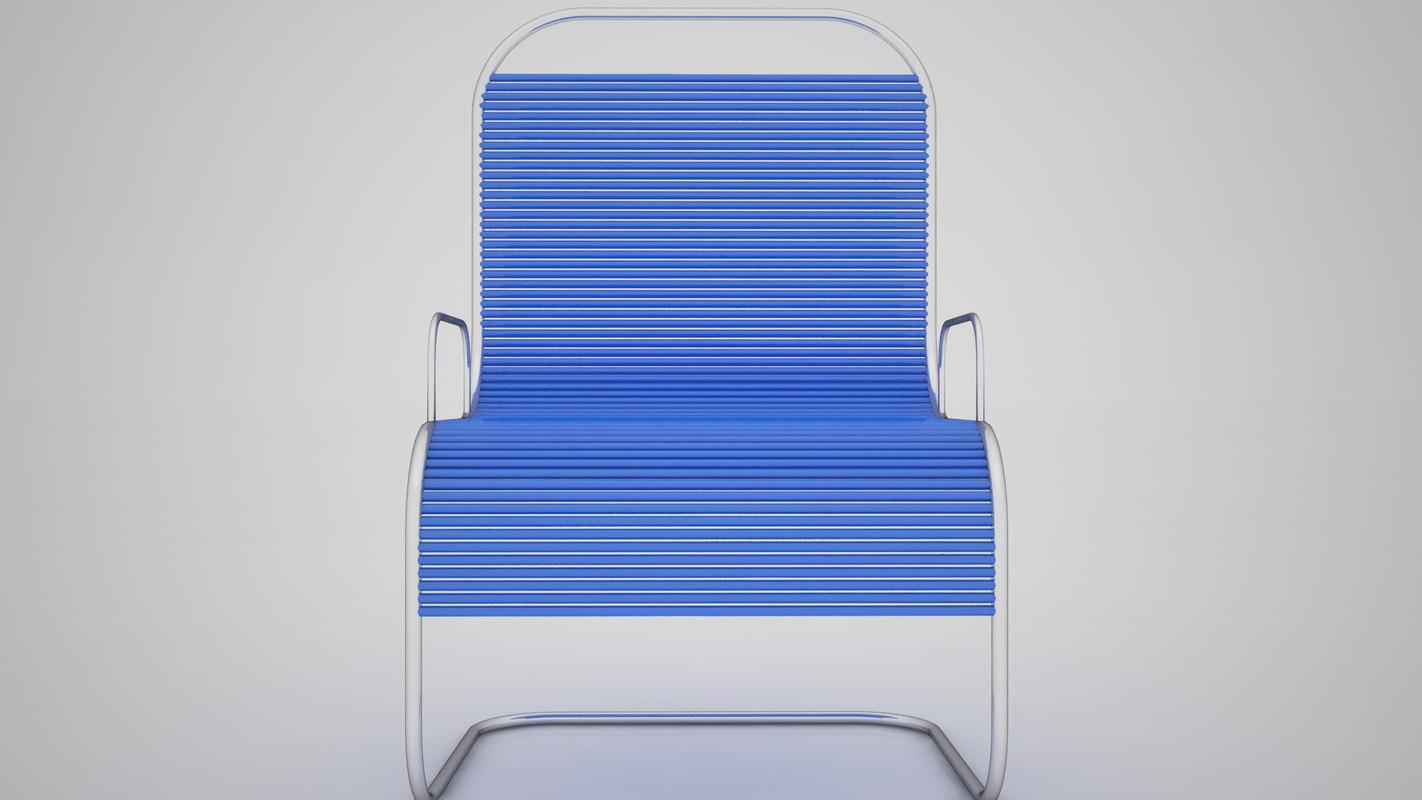 3D steal chair model