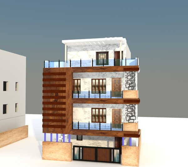 exterior elevation model