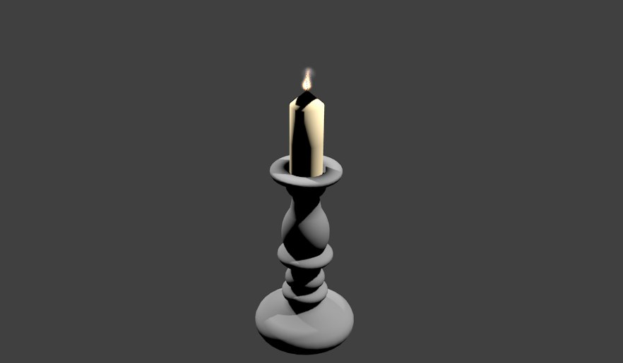 3D candlestick bougeoir candle