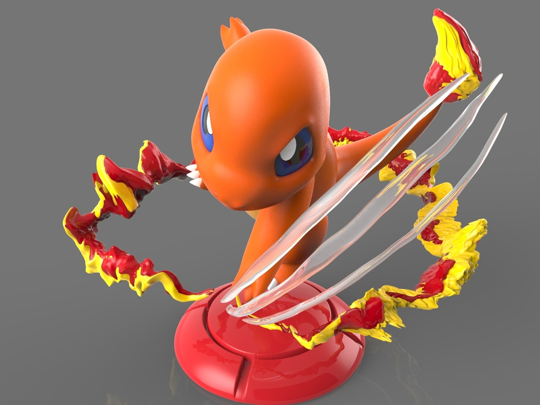 3D pokemon charmander