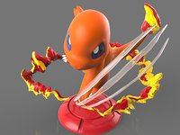 3D pokemon charmander