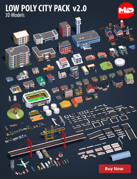 Low Poly City Pack v2.0
