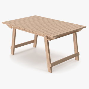 3D table folding old