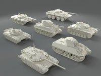 Tanks(7 pieces) - part-1