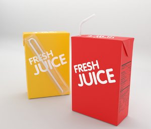 3D product packaging model