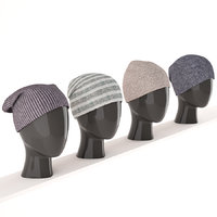 3D hats mannequins model