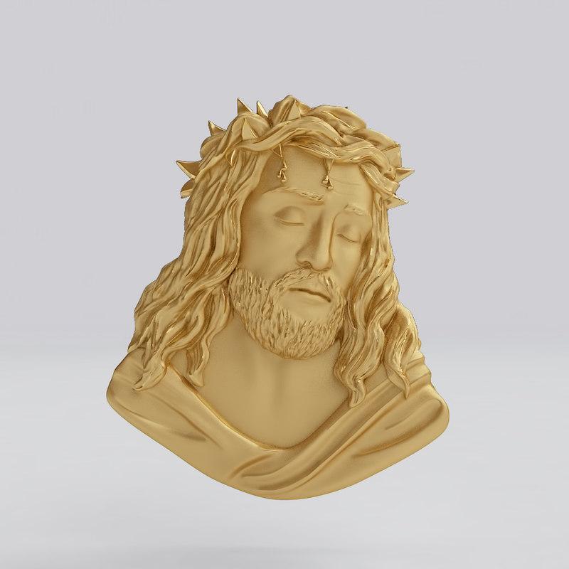 bas-relief pendant 3D model