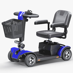 4-wheel mobility scooter 3D model