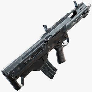 msbs 556b assault rifle 3D model