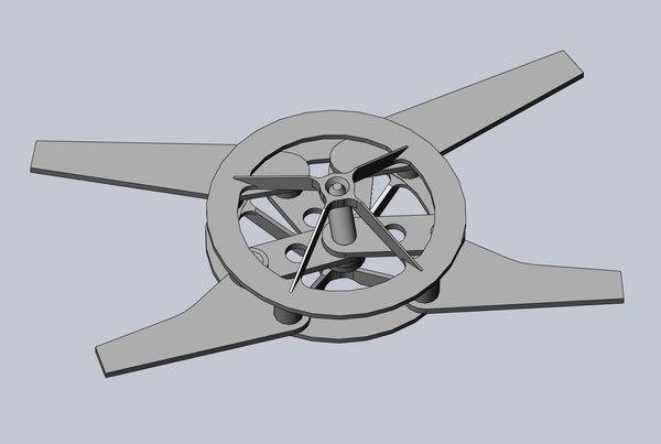 3D ornithopter drive prototype optimized model