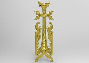 cross armenia xachqar 3D