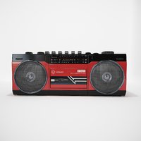 Boombox Retro VR / AR / low-poly 3D model