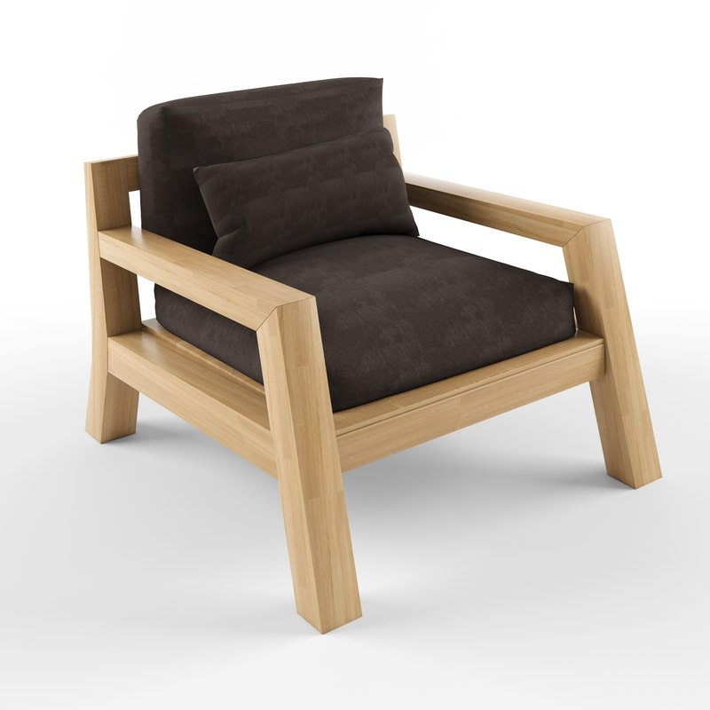 3D model harper sofa single seater