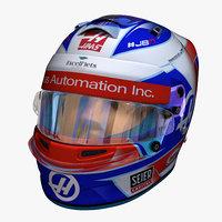Grosjean helmet 2018