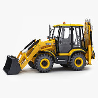 3cx compact backhoe loader 3D model