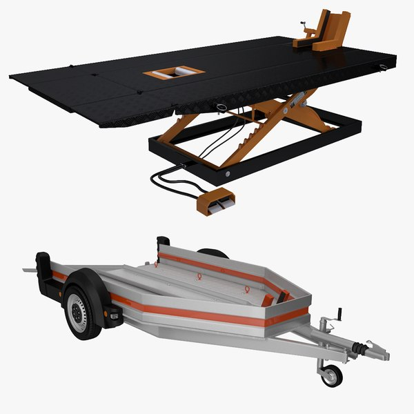 Motorcycle Service Table & Trailer