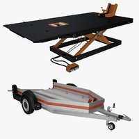 motorcycle trailer table 3D model