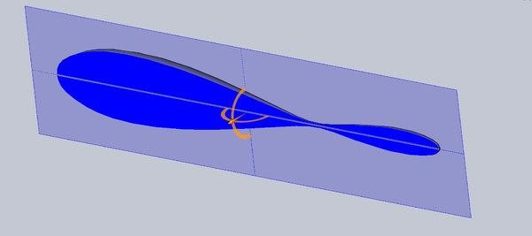 3D large gnomon sundial analemma