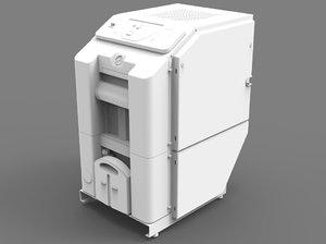 bauer pressure industrial compressor 3D