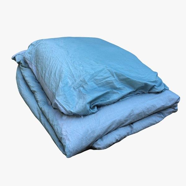 bedclothes fabric room 3D