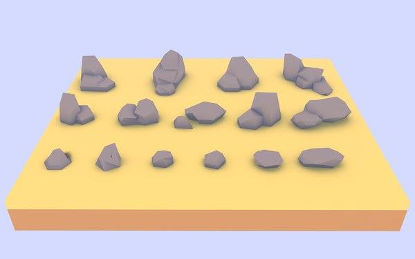 rocks sketchup 3D