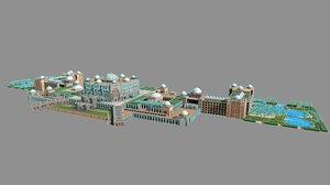 3D model emirates palace hotel