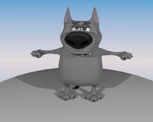 wolf cartoon 3D model
