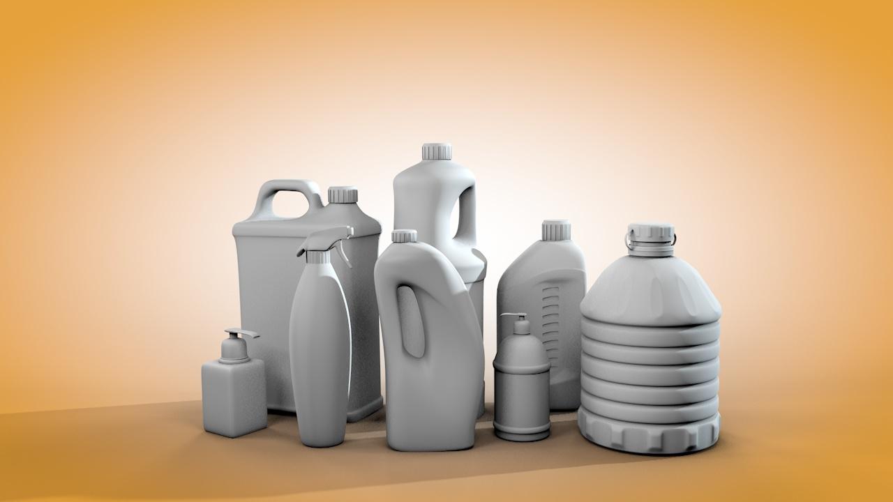 bottle plastic 3D model