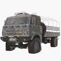 3D real rusted truck