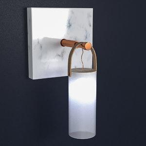 3D federico peri wall lamp model