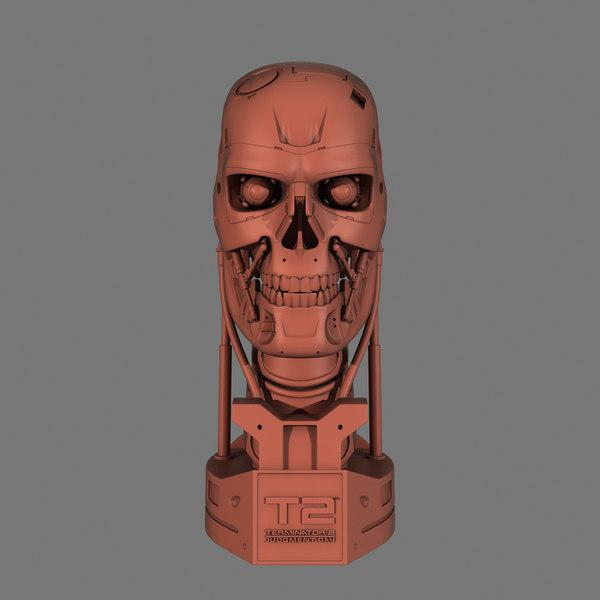 terminator t-800 skull bust model
