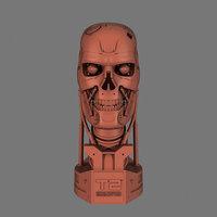 Terminator T-800 Skull Bust for 3d printing