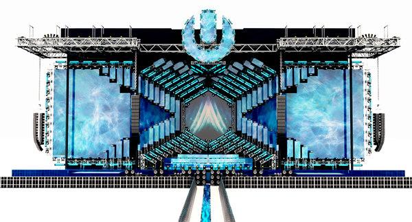 music festival miami 2018 3D model