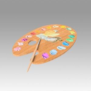 3D palette art artist