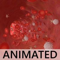 bloodstream flow cell 3D model