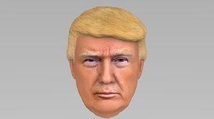 president donald trump 3D model